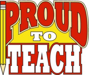 "1"" Proud To Teach Pin-3104"