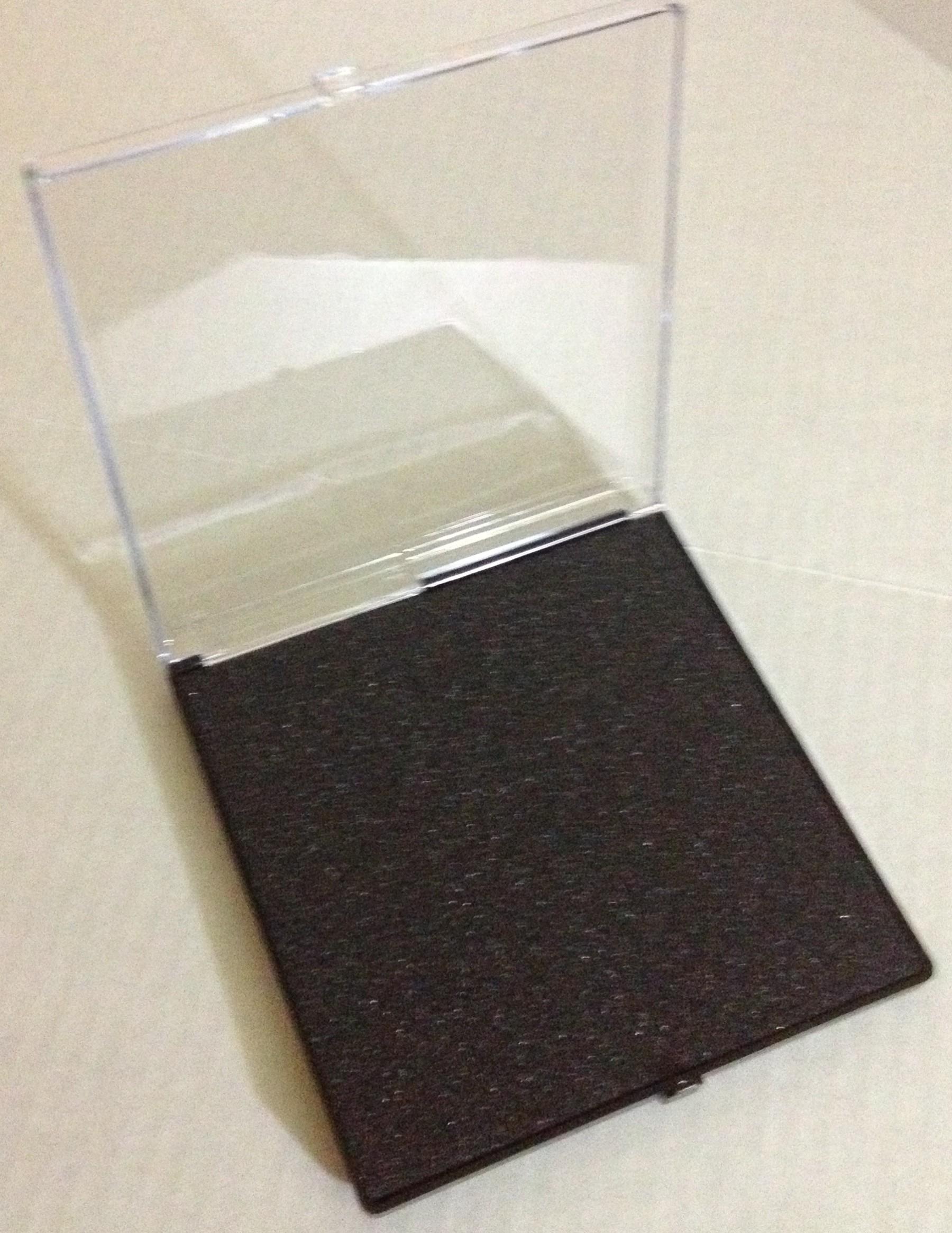 "Plastic Presentation Box 6"" x 6"" x .75""-3118"