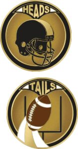 "1.5"" FOOTBALL FLIPPING COIN-3121"