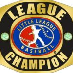 Little League LEAGUE CHAMPION Ring with Little League Logo. Comes with 25″ Chain and Velvet Pouch Size- 10