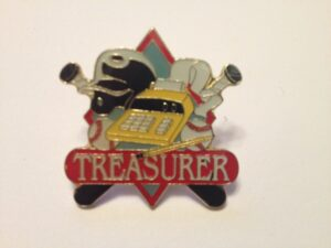 "1.25"" TREASURER PIN-3203"