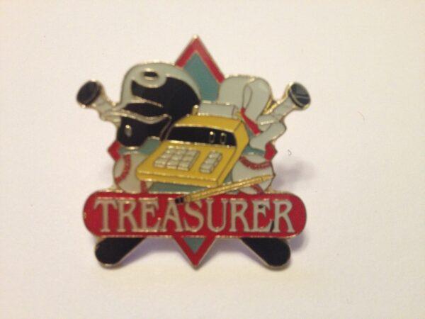 """1.25"""" TREASURER PIN-3203"""