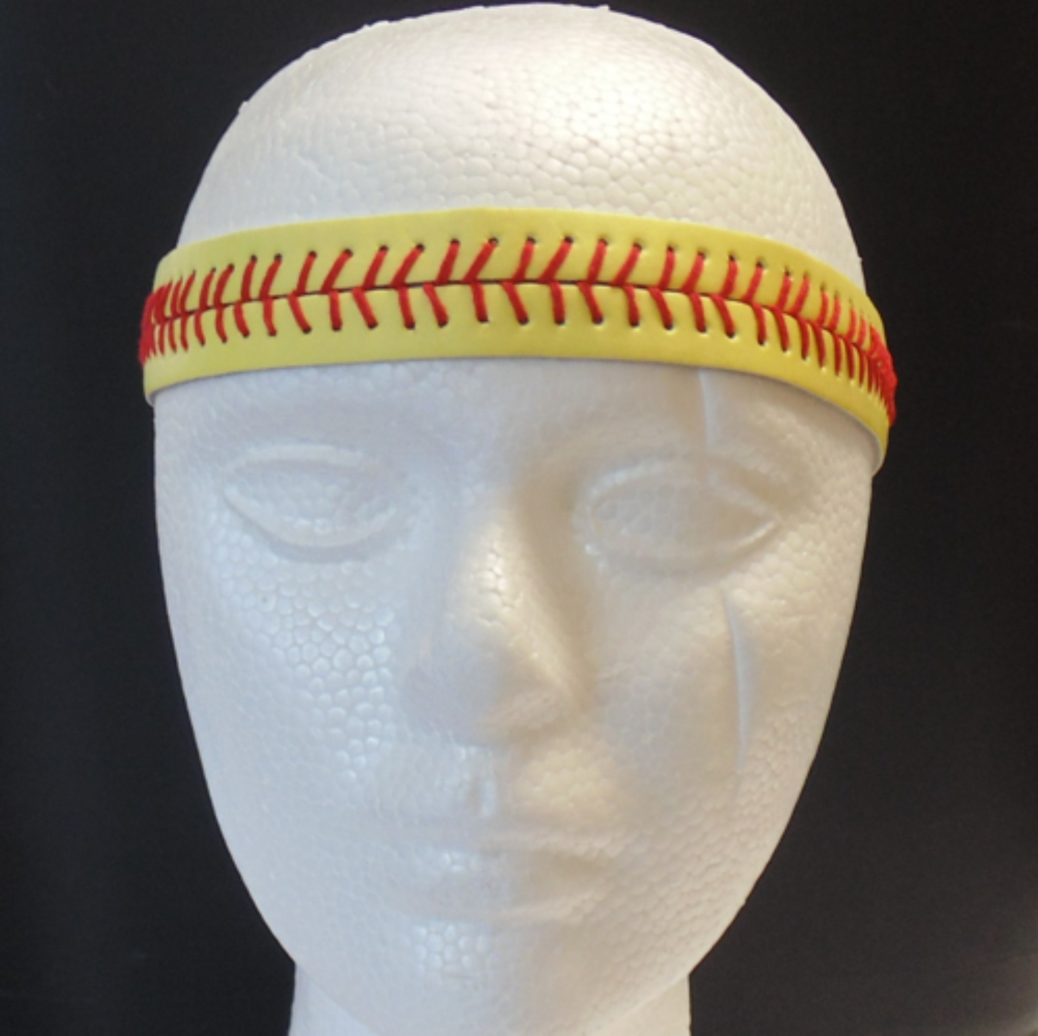 Leather Headband- Softball Stitches-3136