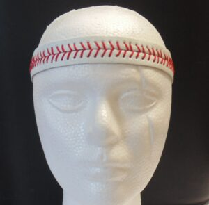 Leather Headband- Baseball Stitch-3138