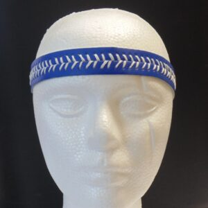 Leather Headband- Royal Blue w/White Stitch-3144