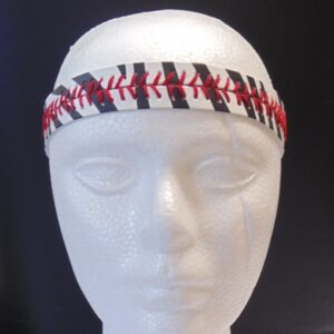 Leather Headband- Zebra Print w/Red Stitches-3155