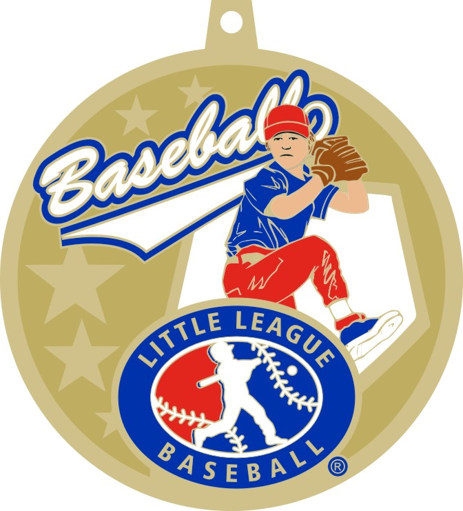 2.5″  LITTLE LEAGUE BASEBALL MEDAL-GOLD (LIMITED QUANTITY)