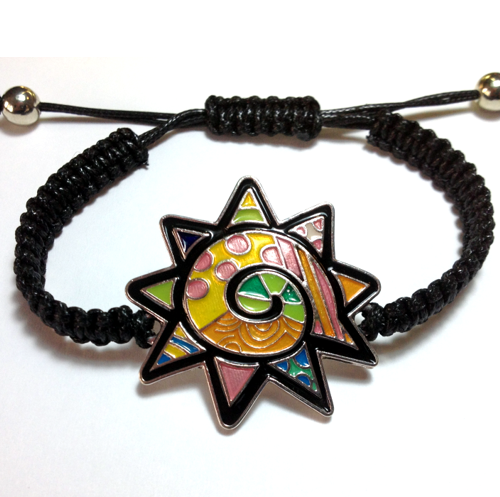 ENAMELED STAR BRACELET-3174
