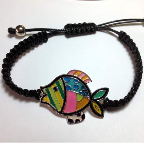ENAMELED FISH BRACELET-3176