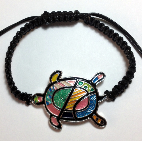 ENAMELED TURTLE BRACELET-3175