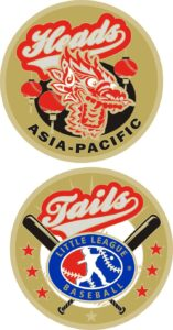 "1.5"" ASIA PACIFIC LITTLE LEAGUE FLIPPING COIN-3209"