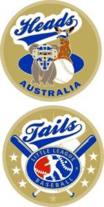 "1.5"" AUSTRALIA LITTLE LEAGUE FLIPPING COIN-3213"