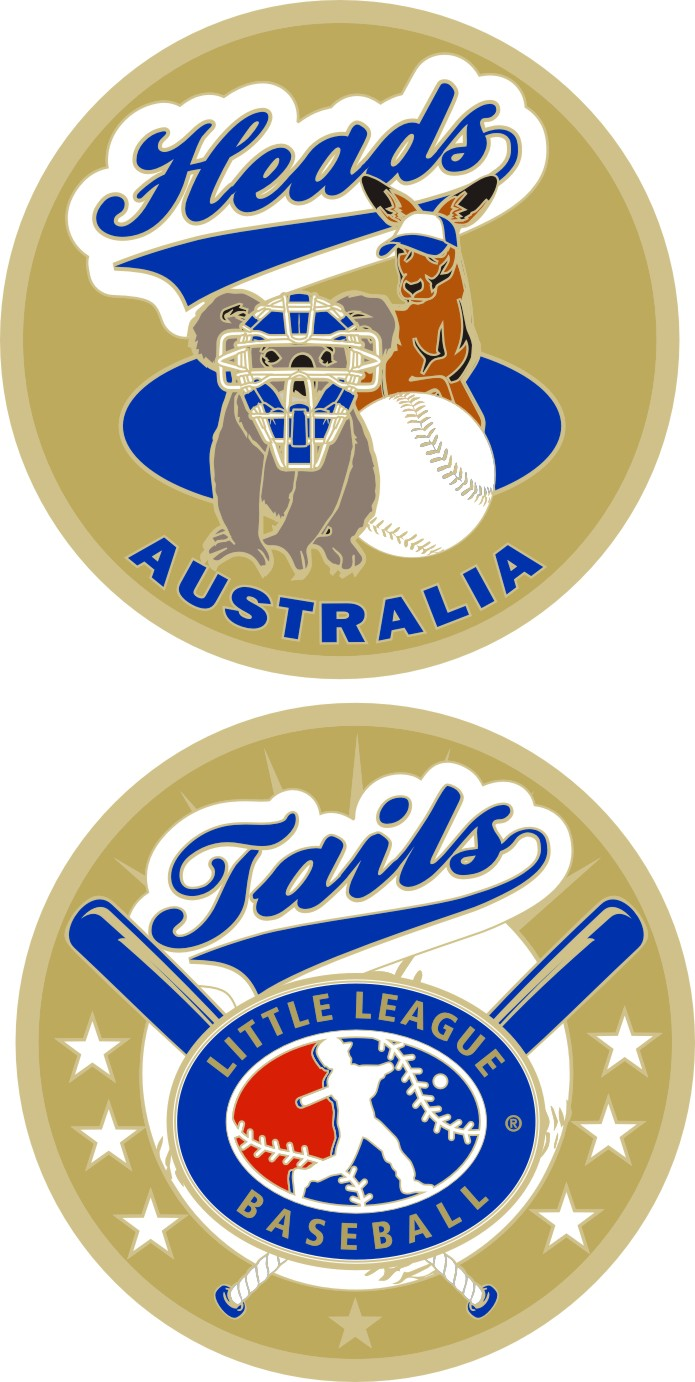 "1.5"" AUSTRALIA LITTLE LEAGUE FLIPPING COIN-3213"