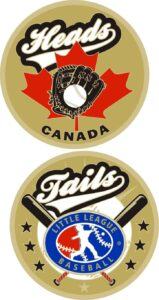 "1.5"" CANADA LITTLE LEAGUE FLIPPING COIN-3207"
