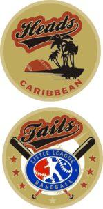 "1.5"" CARIBBEAN LITTLE LEAGUE FLIPPING COIN-3210"