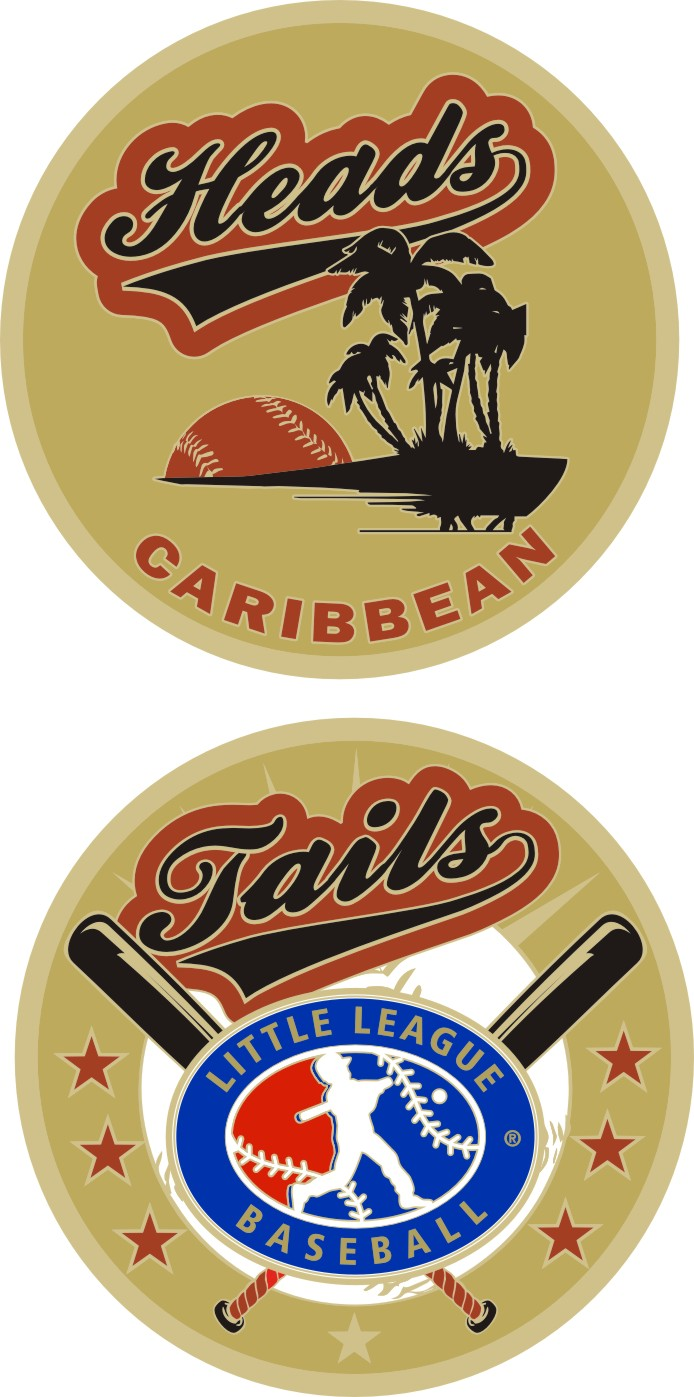 "1.5"" CARIBBEAN LITTLE LEAGUE FLIPPING COIN-3210"