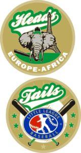 "1.5"" EUROPE-AFRICA LITTLE LEAGUE FLIPPING COIN-3212"