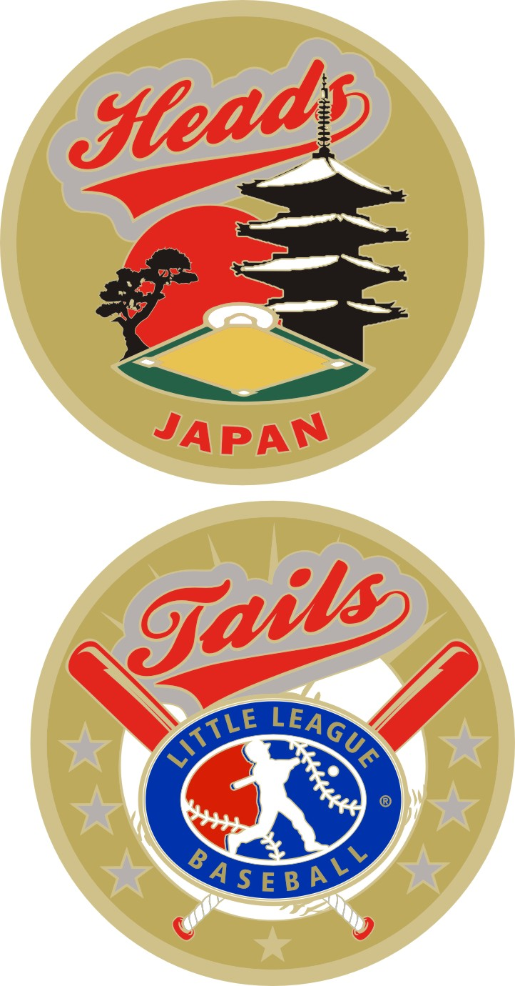 "1.5"" JAPAN LITTLE LEAGUE FLIPPING COIN-3214"