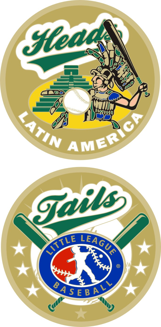 "1.5"" LATIN AMERICA LITTLE LEAGUE FLIPPING COIN-3211"