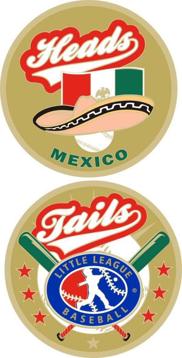 "1.5"" MEXICO LITTLE LEAGUE FLIPPING COIN-3208"