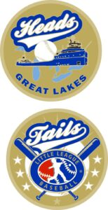 "1.5"" GREAT LAKES REGION LITTLE LEAGUE FLIPPING COIN-3222"