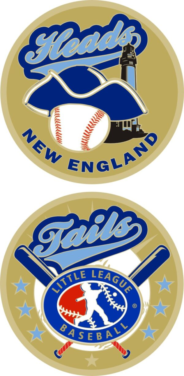 "1.5"" NEW ENGLAND REGION LITTLE LEAGUE FLIPPING COIN-3219"