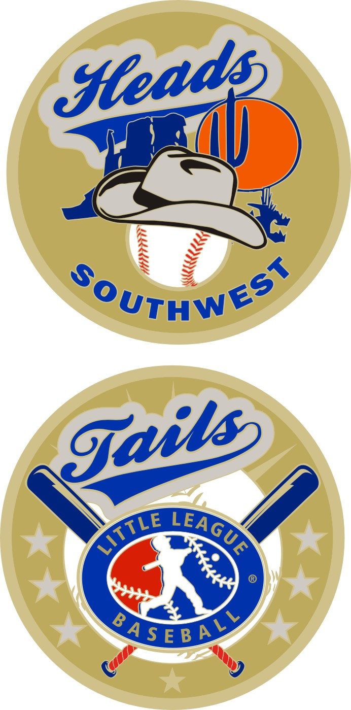 "1.5"" SOUTHWEST REGION LITTLE LEAGUE FLIPPING COIN-3221"