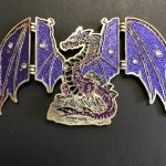 HINGED DRAGON PURPLE GLITTER