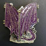 purple dragon folded