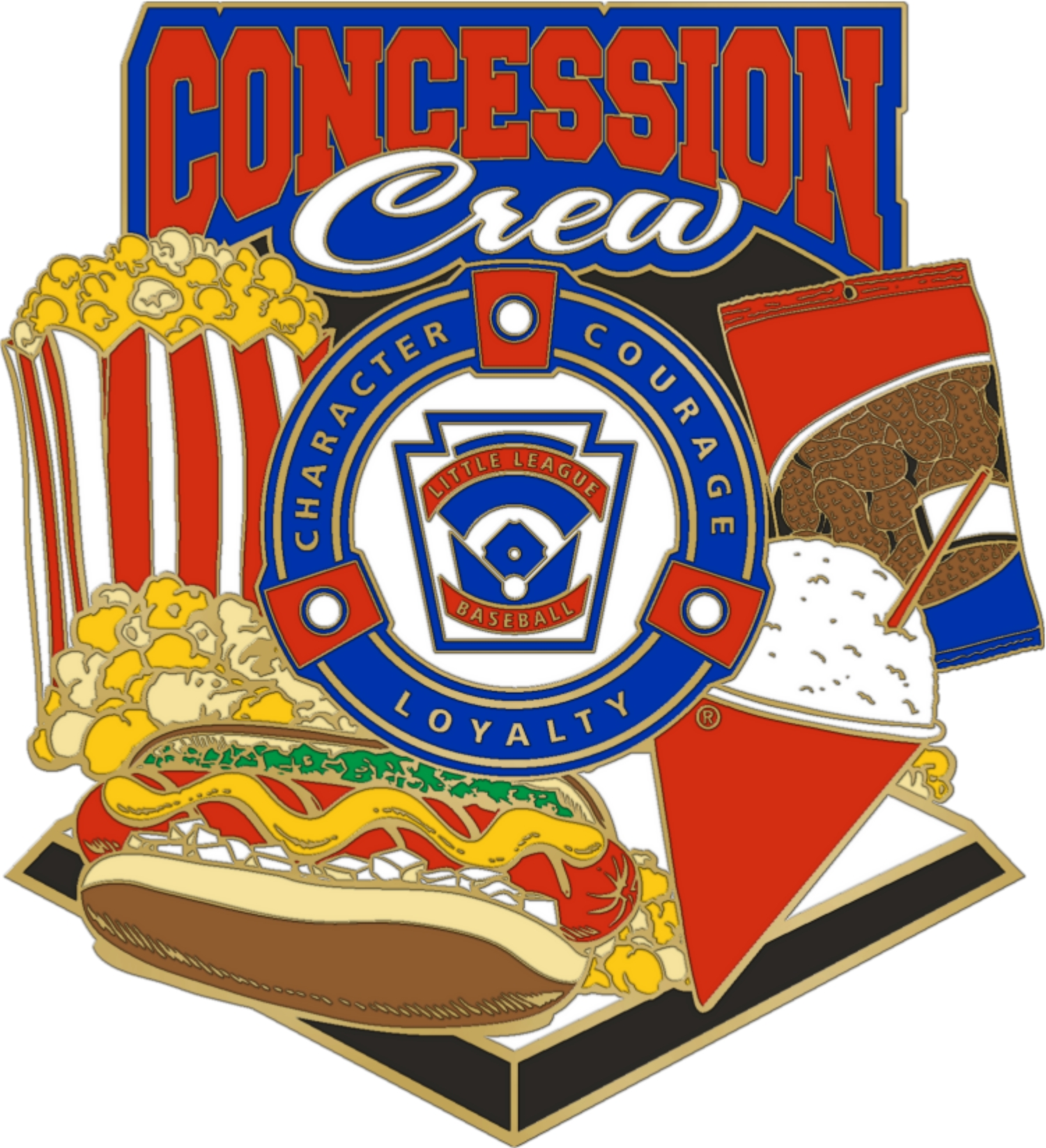 1.25″  CONCESSION CREW **NEW FOR 2019** (will be available April 2019)