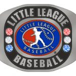 LITTLE LEAGUE BASEBALL RING-SILVER- SIZE 10 **NEW FOR 2019**